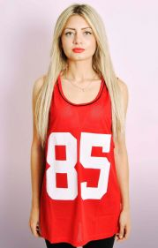 Red Mesh Basketball Style Vest